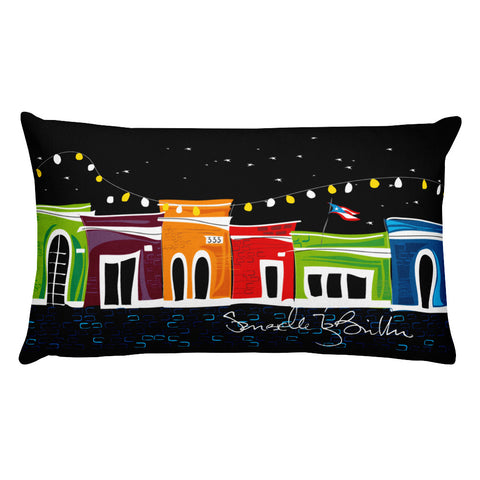 Rectangular Throw Pillow - San Juan Puerto Rico Cojines