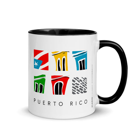 Black Colored Coffee Mug 11oz - Mi Viejo San Juan Taza