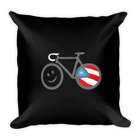 Square Throw Pillow - Road Bike | Cojines Puerto Rico