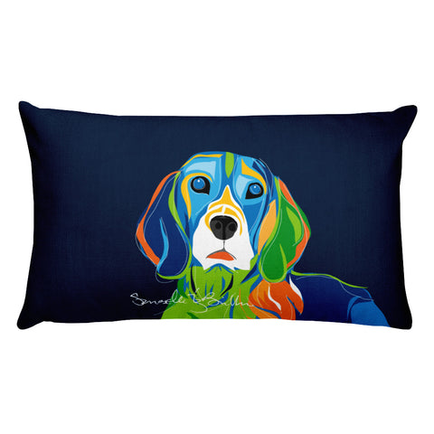 Rectangular Throw Pillow - Perro Dog Beagle Cojines Puerto Rico