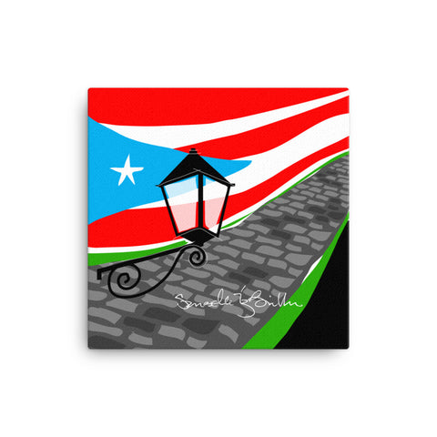 Canvas Print 12in / 16in - Adoquines Bandera Wall Decor Puerto Rico