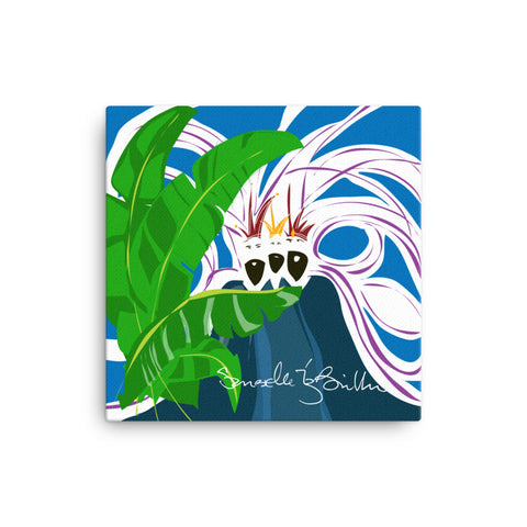 Canvas Print 12in / 16in - Reyes Magos Hojas Platano Wall Decor Puerto Rico