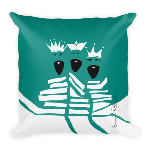 Square Throw Pillow - Los Reyes Puerto Rico Cojines