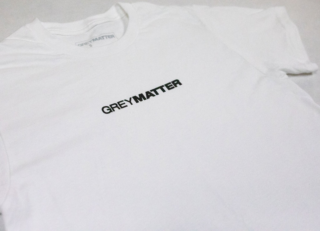 grey-matter-apparel - SEASON TWO - EVOLUTION LOGO T-SHIRT - WHITE