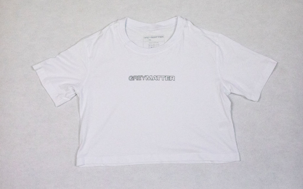 grey-matter-apparel - SEASON TWO - OVERSIZED CROPPED TEE - WHITE