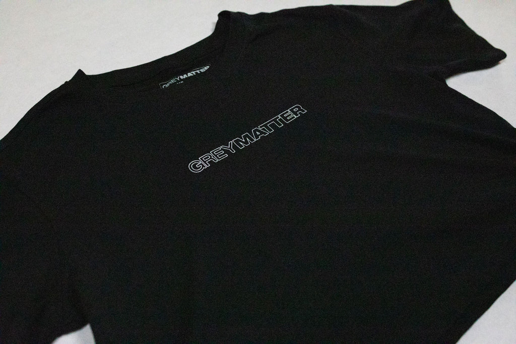 grey-matter-apparel - SEASON TWO - OVERSIZED CROPPED TEE - BLACK