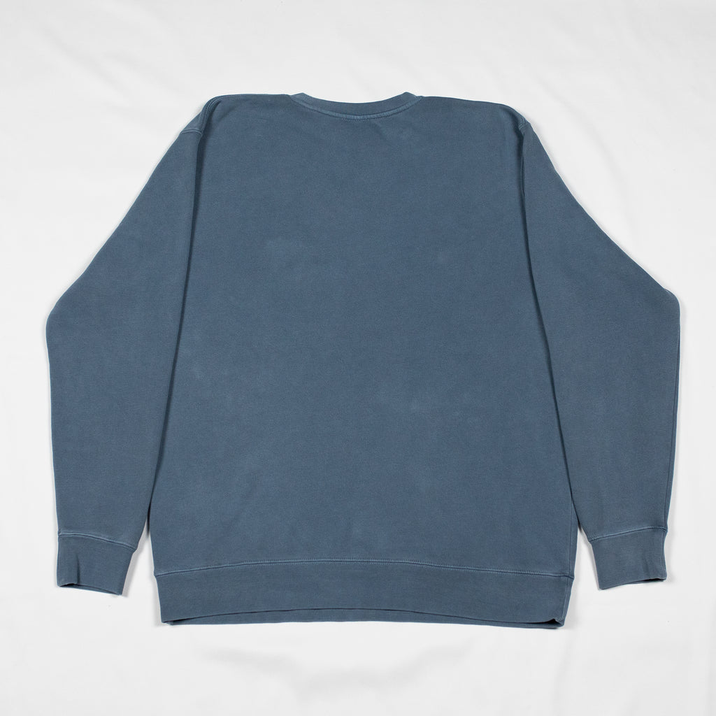 grey-matter-apparel - SEASON ONE - BLUE OVERDYED SWEATSHIRT