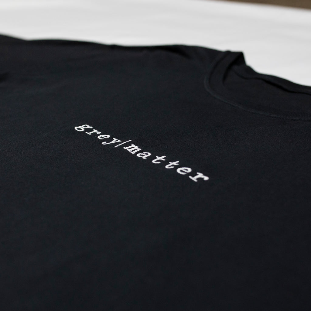grey-matter-apparel - SEASON ONE - BLACK LOGO T-SHIRT