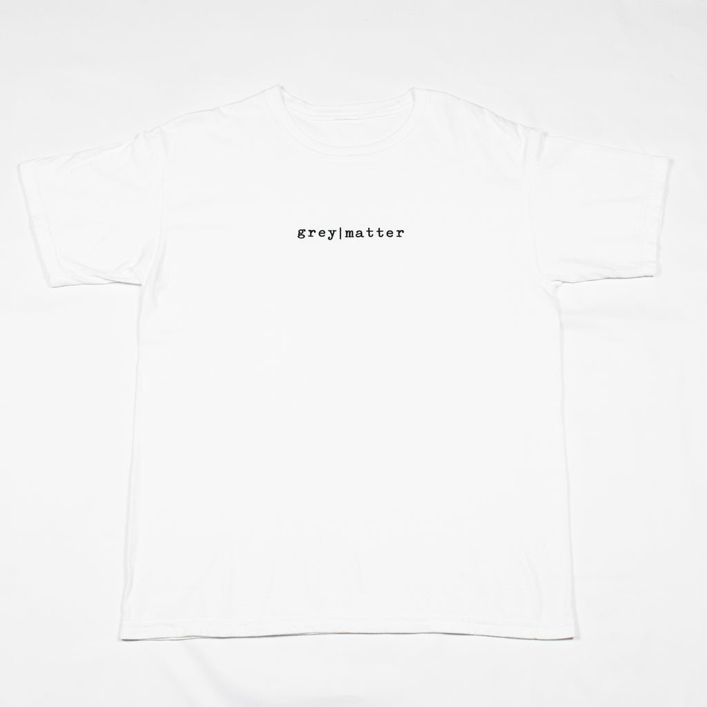 grey-matter-apparel - SEASON ONE - WHITE LOGO T-SHIRT