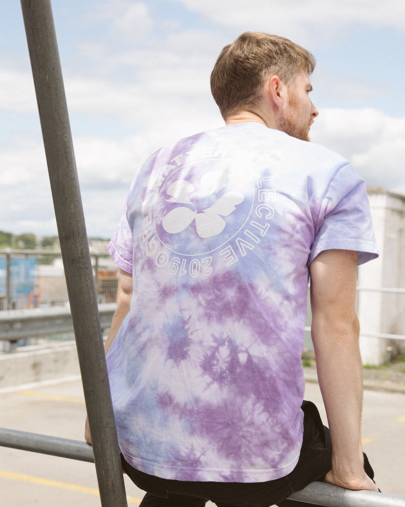 LIMITED EDITION - PLUMERIA TIE DYE T-SHIRT