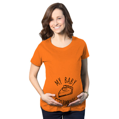 Maternity My Baby Loves Pumpkin Pie Cute Autumn Pregnancy Tshirt