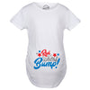 Red White And Bump Maternity Tshirt