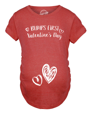 Bump's First Valentine's Day Maternity Tshirt