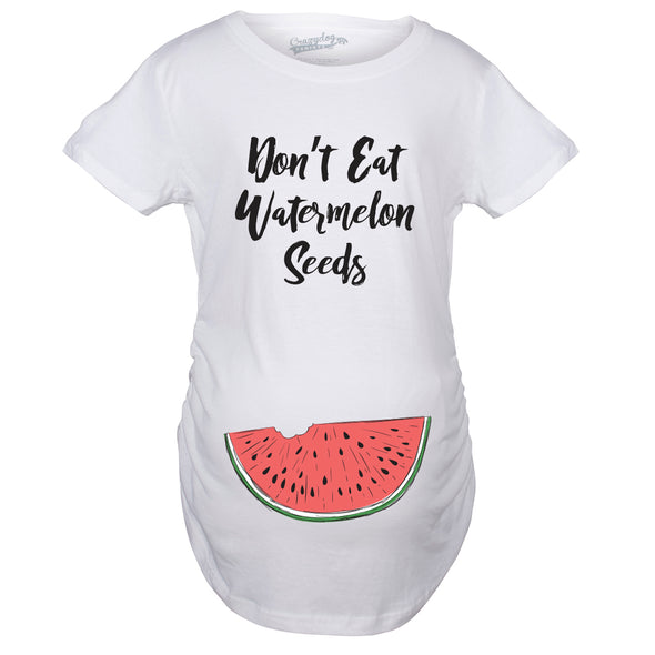 Maternity Don't Eat Watermelon Seeds Tshirt Funny Pregnancy Tee