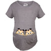Peeking Twin Girls Maternity Tshirt