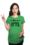 Due In April Maternity Tshirt