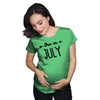Due In July Maternity Tshirt