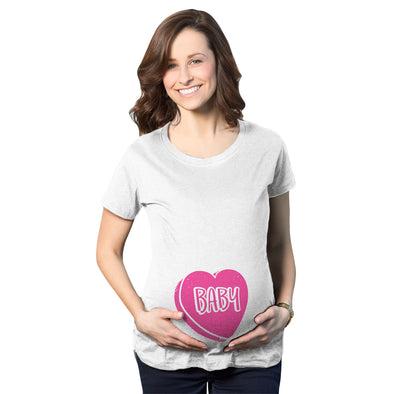 Baby Candy Heart Maternity Tshirt