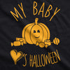 My Baby Loves Halloween Maternity Tshirt