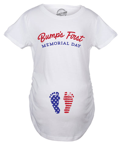 Bump's First Memorial Day Maternity Tshirt
