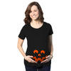 Cartoon Eyes Pumpkin Face Maternity Tshirt