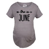 Due In June Maternity Tshirt