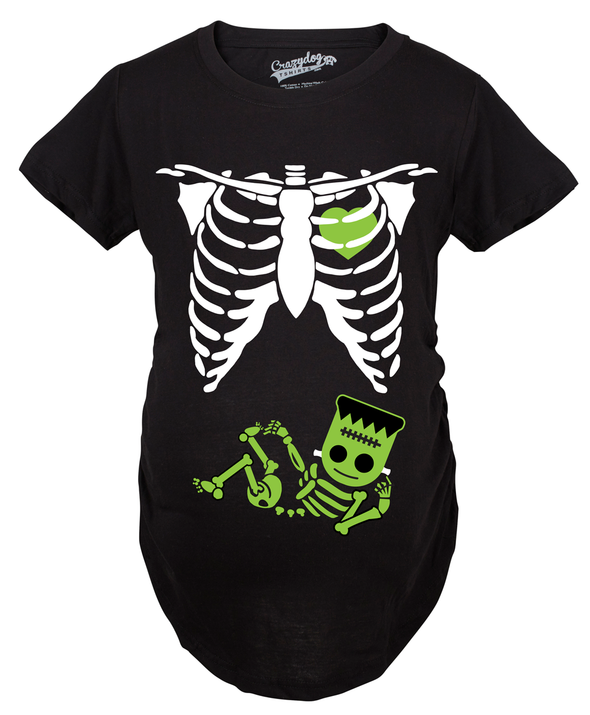 Frankenstein Skeleton Maternity Tshirt