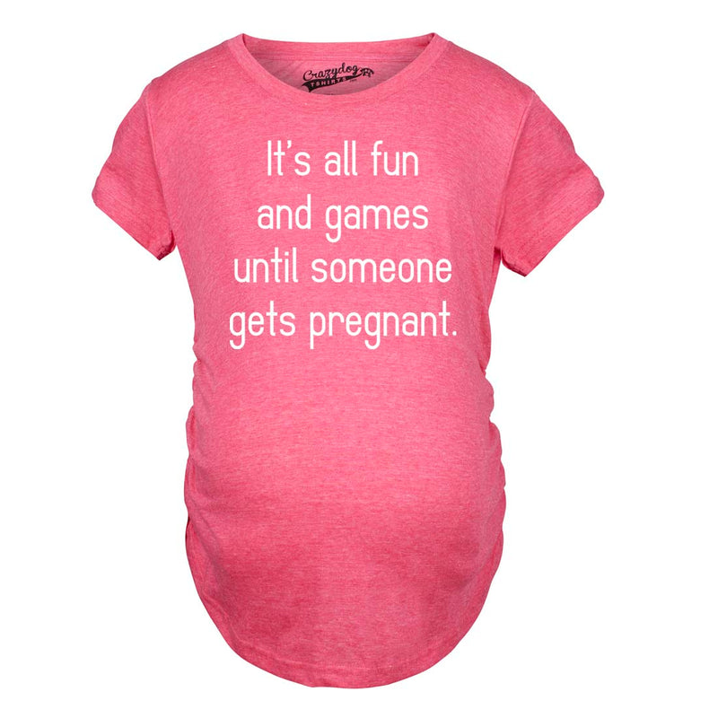 Maternity Fun and Games Funny Pregnancy Shirts Cute Shirt Cheap Novelty Geek T shirt