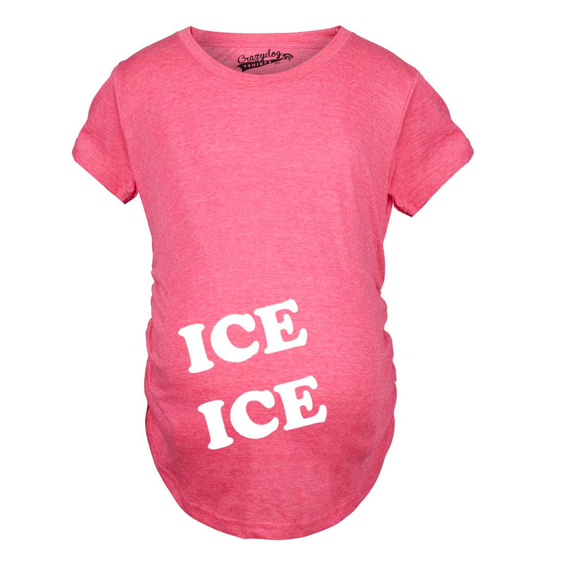Maternity Ice Ice Pregnant Tee Novelty Baby Bump Pregnancy Announcement T shirt