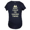 Keep Calm I'm Having Twins Maternity Tshirt