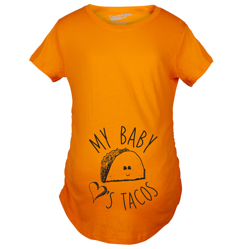 Maternity My Baby Loves Tacos Funny T shirts Cute Announce Pregnancy Im Pregnant Bump T shirt
