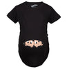Peeking Twins Maternity Tshirt