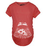 Ultrasound Pizza Maternity Tshirt