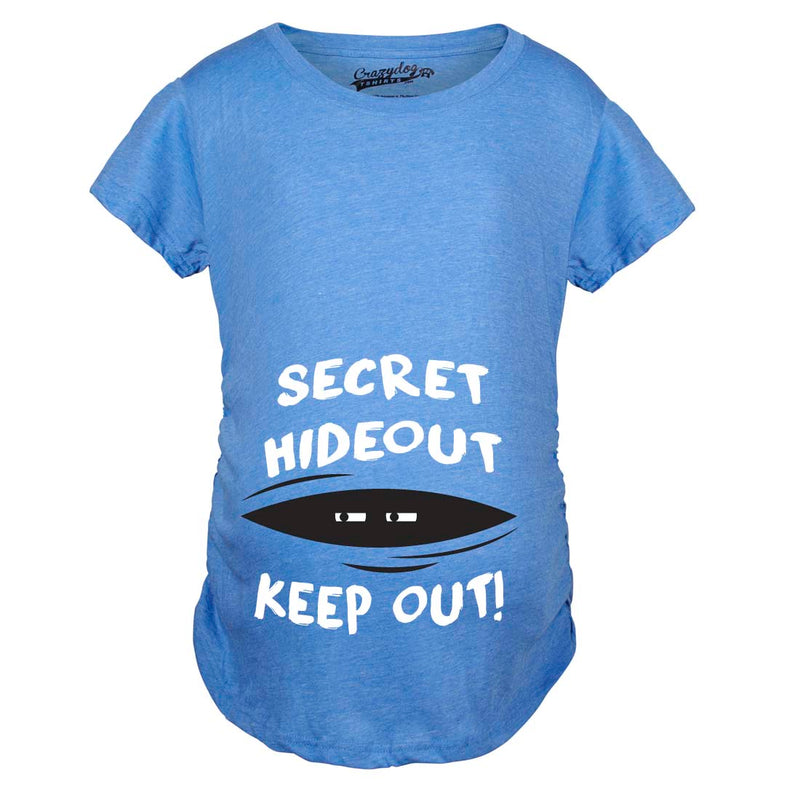 Maternity Secret Hideout Baby Peeking Maternity Shirt Funny Pregnancy Shirts