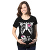 Skeleton Baby Girl Maternity Tshirt