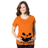 Teardrop Eyes Pumpkin Face Maternity Tshirt