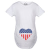 USA Heart Belly Maternity Tshirt