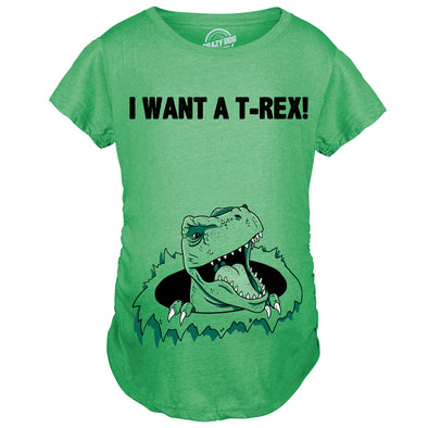 Ask Me About My T-Rex Flip Maternity Tshirt