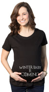 Winter Baby Is Coming Maternity Tshirt