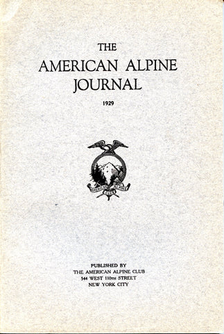 1929 American Alpine Journal (First Year Published)