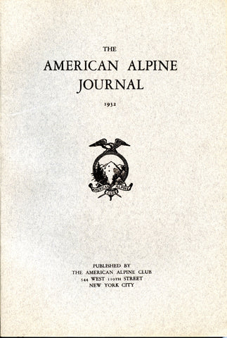 1932 - American Alpine Journal (blemished copies)