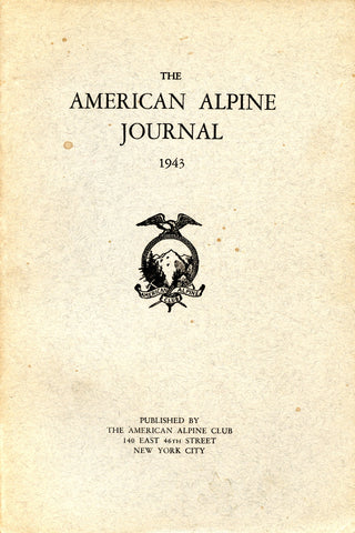 1943 - American Alpine Journal (slightly blemished)