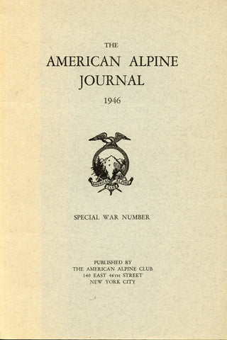 1946 - American Alpine Journal - Special War Number