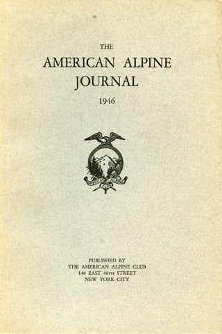 1946 - American Alpine Journal (Used / Blemished)