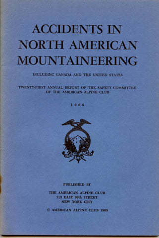 1968 Accidents in North American Mountaineering