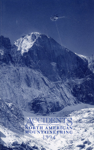1994 Accidents in North American Mountaineering