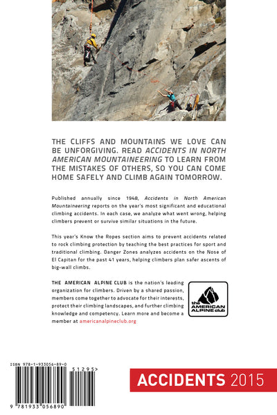 2015 Accidents in North American Mountaineering