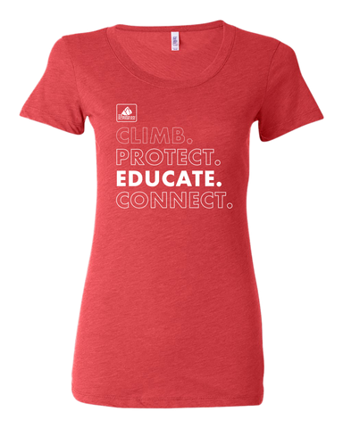 Women's Climb Protect Educate Connect T-Shirt