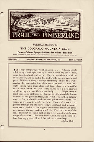 September 1924 - Trail & Timberline - Hawaii Climbs, Uncompahgre, 1918 Boulder Climbs