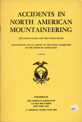 1964 Accidents in North American Mountaineering
